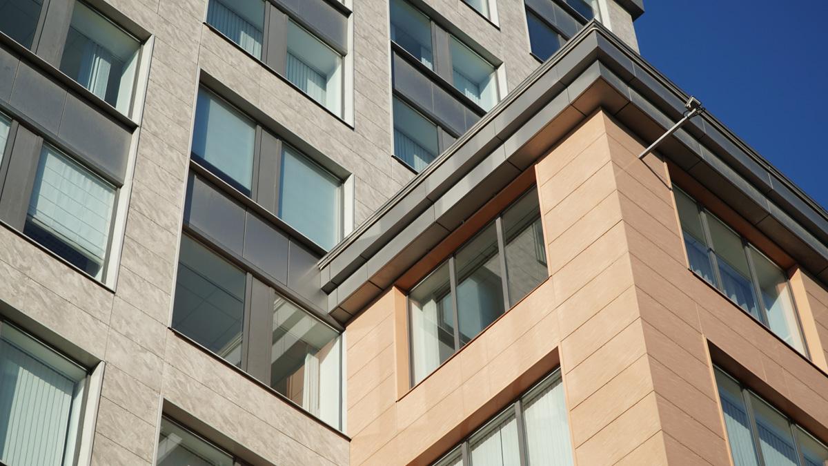 Вентилируемые фасады из керамогранита в Туле