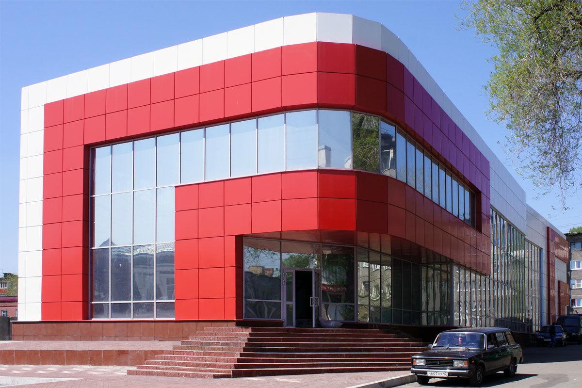 Вентилируемые фасады из металлокассет в Туле